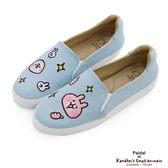 Paidal x 卡娜赫拉的小動物 P助&粉紅兔兔趣味貼布平底休閒鞋樂福鞋懶人鞋