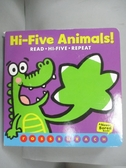 【書寶二手書T3/少年童書_KHY】Hi-Five Animals!_Burach, Ross