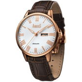 【台南 時代鐘錶 ARBUTUS】愛彼特 AR715RWF 紐約風尚 羅馬時標機械錶 白/玫瑰金 42mm 公司貨 開發票