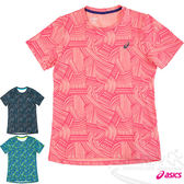ASICS 亞瑟士 fuzeX女慢跑印花T恤(橘紅)  休閒衣 慢跑 路跑 2016最新款