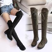 2021新款馬丁靴女英倫風過膝靴女長筒高筒靴騎士機車靴子女 8號店