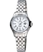 ENICAR 自動系列璀燦晶鑽機械女錶-白/銀 778-50-329a