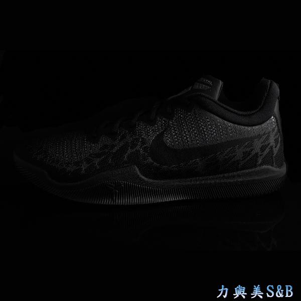 NIKE 男籃球鞋 超耐磨鞋底 MAMBA RAGE EP  黑灰色鞋面+正黑色LOGO 【7640】