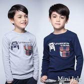 Mini Jule男童 上衣 車子字母印花格紋單口袋長袖上衣(共2色)