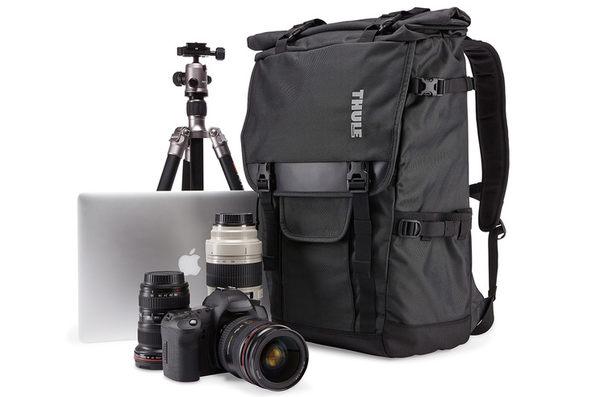 THULE 都樂-Covert DSLR Rolltop Backpack 數位單眼相機包TCDK-101暗灰(忠欣公司貨)