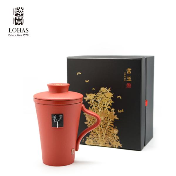 陸寶 【常玉系列 蓋杯】 杯+ 蓋+茶格3件式