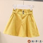 裙褲夏女童牛仔短裙半身裙兒童寶寶裙子大童女孩傘裙【淘夢屋】