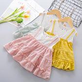 618好康鉅惠韓版兒童背心裙1-2-3-4歲女寶寶無袖全棉裙子
