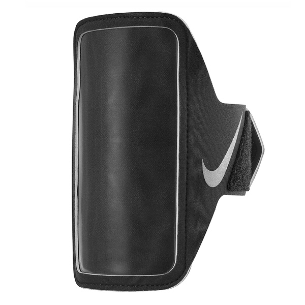 Nike Lean Arm Band [NRN65082OS] 運動 慢跑 自行車 輕量 手機 臂包 5吋 黑 銀