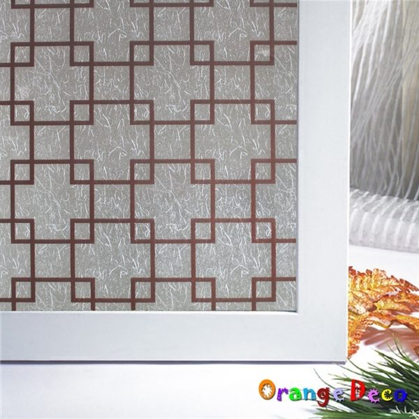 壁貼【橘果設計】中國風 玻璃貼 90*500CM 防曬抗熱 透明玻璃變磨砂玻璃 壁紙 壁貼