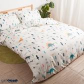 【LUST】恐龍樂園 新生活eazy系列-單人加大3.5X6.2-/床包/枕套組、台灣製