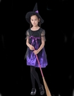 兒童蝴蝶結巫婆裝 萬聖節服裝聖誕節服裝表演角色扮演服裝 俏麗小魔女