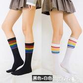 及膝襪 及膝襪女日系高筒襪韓版不過膝襪半截長統襪夏季純棉堆堆小腿襪子 芭蕾朵朵