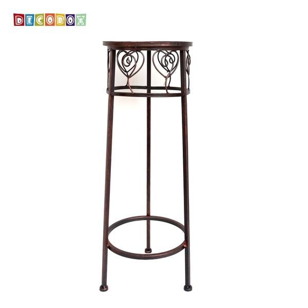 DecoBox心語古銅圓形小花架 (羅馬柱,走道花鐵架,展示架,多肉花架)