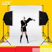 力飛LED攝影燈套裝小型攝影棚柔光箱人像補光燈箱平鋪白底圖拍照道具LX 玩趣3C