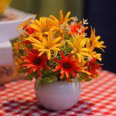 絹花干花花束塑料仿真花套裝擺件擺設裝飾客廳家居小花盆栽mandyc