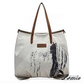 【Lemio】韓版機能款通勤帆布肩背包(時尚白)