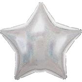 18吋星星鋁箔氣球(不含氣)-銀燦燦