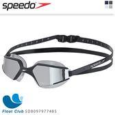 【Speedo】成人進階泳鏡Aquapulse Max 2 - 黑/銀