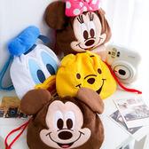 日貨 正版迪士尼束口袋 米奇 米尼 維尼 唐老鴨 收納袋 相機袋 拍立得 Mini 25 50s 90 SP-1 PD239