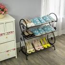 簡易學生鞋架鐵藝多層宿舍組裝收納鞋架經濟型現代簡約防塵小鞋櫃【快速出貨】