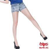 BOBSON 女款燙貼星星牛仔短褲(藍192-58)