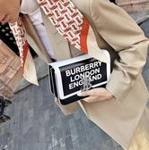 ■專櫃55折■ Burberry 全新真品 小型徽標印花皮革 TB 包