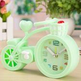 時鐘模型擺件定時鬧鐘創意個性現代簡約床頭臥室可愛女孩兒童 免運快速出貨