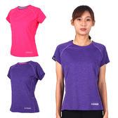 FIRESTAR 女短袖吸排圓領衫 (T恤 短T 慢跑 路跑 訓練 有氧 瑜珈 免運 ≡排汗專家≡