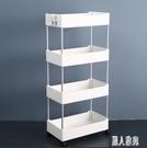 簡約置物架浴室收納架可移動手推車臥室出租屋改造收納神器小家具CY2471『麗人雅苑』