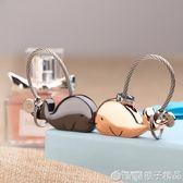 掛件創意可愛鯨魚鑰匙?男女情侶鑰匙扣一對簡約鑰匙圈 橙子精品