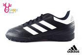 adidas足球鞋 中大童 Goletto VI TF J 皮革 防水 運動鞋P9314#黑色◆OSOME奧森童鞋