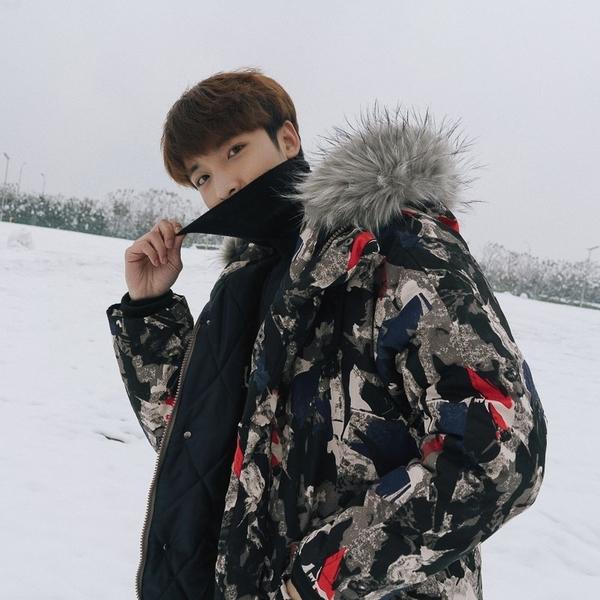 FINDSENSE品牌2018 新款 韓國  長袖  潮流上衣  加厚 保暖 棉