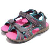 Merrell 涼拖鞋 Panther 運動鞋 灰 藍 粉紅 休閒鞋 魔鬼氈 涼鞋 拖鞋 女鞋 大童鞋【PUMP306】 MY53428A