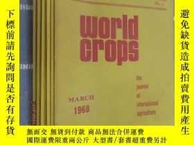 二手書博民逛書店英文書罕見world crops 1968(1.2.3.4.5.