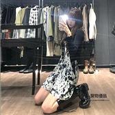 連身裙子氣質顯瘦收腰背心裙小可愛【聚物優品】