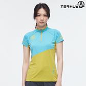 TERNUA 女 Dryshell半門襟上衣1207160 / 城市綠洲(輕量透氣、彈性快乾、防曬、防異味)