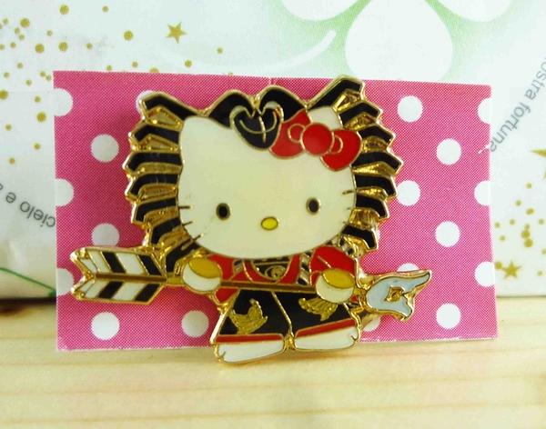 【震撼精品百貨】Hello Kitty 凱蒂貓~KITTY造型徽章-矢的根箭