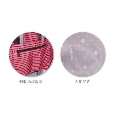 【HAPI+TAS】可摺疊收納旅行袋(H0004-164大-森林粉紅)【威奇包仔通】