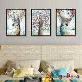 壁貼【橘果設計】梅花鹿相片 DIY組合壁貼 牆貼 壁紙 室內設計 裝潢 無痕壁貼 佈置