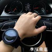 手錶原宿潮簡約手錶男青少年時尚個性防水運動手錶男學生電子錶男 摩可美家