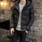夾克外套-連帽純色休閒百搭時尚夾棉男外套3色73qa6[時尚巴黎]