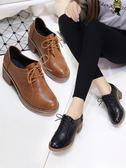 小短靴女 百搭韓版 馬丁靴粗跟小皮鞋 ☸mousika
