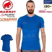 Mammut 1017-00050-5072冰藍 長毛象極限艾格 男排汗中層衣 Moench登山健行休閒衣/路跑運動衫 機能衣
