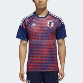 adidas 球衣 Japan Home Pre-Match Shorts 男款 足球 日本國家隊 主場 賽前熱身 藍 紅 世界盃【PUMP306】 CF1547