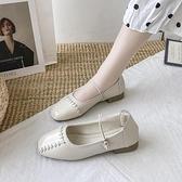 娃娃鞋 小皮鞋女2021夏季新款補丁乞丐方頭丑萌大頭鞋瑪麗珍娃娃單鞋 小衣里大購物