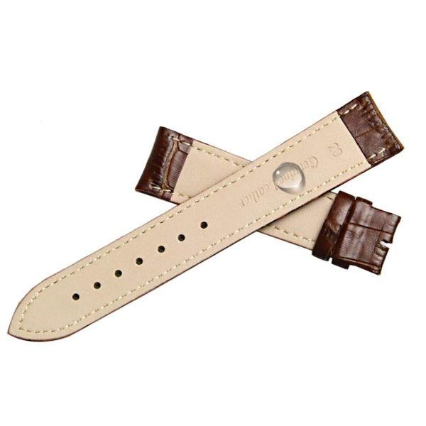 (雙11購物節)手錶帶意時利錶帶男皮質蝴蝶扣女代用卡西歐天梭浪琴CK美度DW針扣錶帶