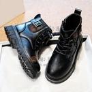 兒童靴子女童馬丁靴棉鞋中大童皮靴百搭女童短靴加絨兒童靴子【淘夢屋】