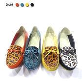 ★KEITH-WILL★(預購) 狂野悶騷豹紋蝴蝶真皮鞋