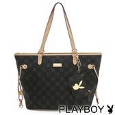 PLAYBOY- N- Natty 系列抽繩購物袋-咖啡色